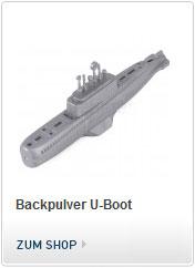 Backpulver U-Boot - funktioniert mit Backpulver Antrieb