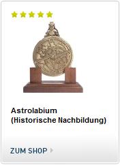 Historische Nachbildung eines Astrolabium des französischen Astronoms Michael Asineus aus dem Jahr 1602