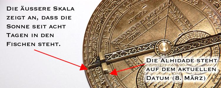 Astrolabium Funktion und Anleitung