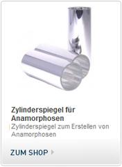 Spiegelanamorphosen kaufen, Anamorphose mit Zylinderspiegel