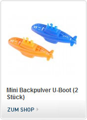 Mini Backpulver U-Boot - funktioniert mit Backpulver Antrieb