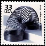 Slinky auf Briefmarke