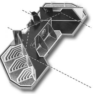 Pseudoskop mit Strahlengang